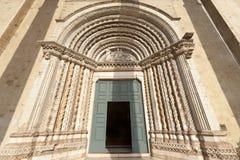 Camerino, igreja de San Venanzio Fotografia de Stock Royalty Free