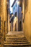 Camerino (Marches, Italy) by night Stock Image