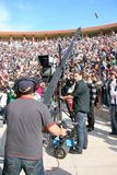 Camerman. ISTANBUL - APRIL 23: Professional cameraman records live during National Sovereignty and Children Day festival on April 23, 2010 in Istanbul Stock Photography