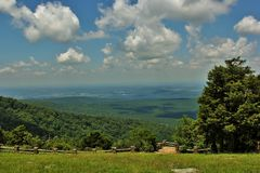Cameron Bluff Overlook at Mount Magazine. _ Arkansas`s highest point royalty free stock photography