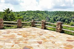 Cameron Bluff Overlook at Mount Magazine. _ Arkansas`s highest point stock images