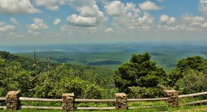 Cameron Bluff Overlook at Mount Magazine. _ Arkansas`s highest point royalty free stock photo