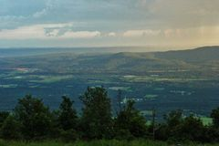 Cameron Bluff Overlook at Mount Magazine. _ Arkansas`s highest point royalty free stock images