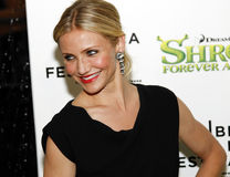 Cameron Diaz. NEW YORK - APRIL 21: Cameron Diaz attends the Shrek Forever After premiere during the 2010 Tribeca Film Festival at the Ziegfeld Theatre on April stock images