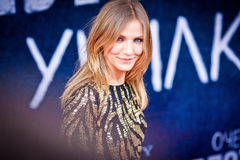 Cameron Diaz. Arrives to the world premiere of 'Bad Teacher' on June 15, 2011 in Octyabr cinema, Moscow, Russia royalty free stock photos