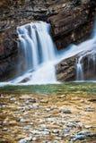 Cameron Falls del parque nacional de Waterton, Canadá Imagen de archivo libre de regalías