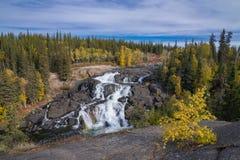 Cameron Falls, Territori del Nord Ovest Fotografia Stock