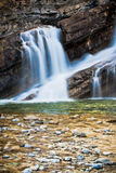 Cameron Falls van het Nationale Park van Waterton, Canada Royalty-vrije Stock Afbeelding