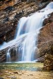 Cameron Falls van het Nationale Park van Waterton, Canada Royalty-vrije Stock Fotografie