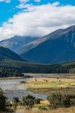 Cameron Flat Camping Ground uppåtsträvande nationalpark för montering, Nya Zeeland Fotografering för Bildbyråer