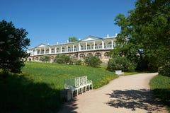 Cameron galeria Catherine 24 km imperiału park szlachetności Petersburgu centrum pobyt rodzinny poprzedniego rosyjskiego selo st  fotografia royalty free
