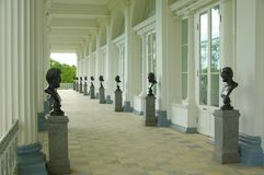 Cameron galleri i Tsarskoye Selo Arkivfoto