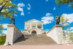 Cameron Gallery i Catherine parkerar i Tsarskoye Selo Royaltyfria Foton