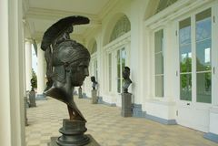 Cameron Gallery in Tsarskoye Selo. Cameron Gallery in Catherine park in Tsarskoye Selo Stock Images