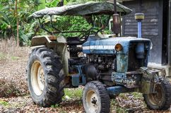 Cameron Highlands, Malaysia - December 30, 2013: A Ford tractor royalty free stock photo