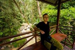 Cameron Highlands Parit Falls que trekking foto de stock royalty free