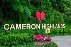 Cameron Highlands Sign fotografia de stock royalty free