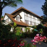 Cameron Highlands Smokehouse Hotel et le restaurant Photographie stock libre de droits
