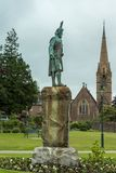 Cameron statue and Saint Andrews Church, Fort William Scotland. Royalty Free Stock Photo