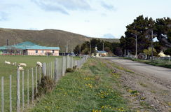 The Cameron village centre of the municipality of Temaukel. CAMERON, CHILE - NOVEMBER 12,2014:The Cameron village centre of the municipality of Temaukel. Tierra Stock Photography