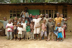 Cameroon/Akonolinga/Dschungel-Schule Lizenzfreies Stockbild