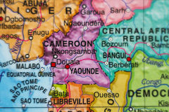 Cameroon country map . Stock Photo