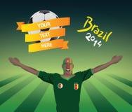 Cameroon fan piłki nożnej Zdjęcia Royalty Free