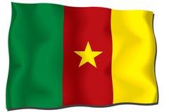 Cameroon Flag. Icon, isolated on white background royalty free illustration