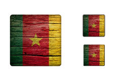 Cameroon Flag Buttons Royalty Free Stock Photography