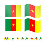 Cameroon Flag Stock Photo