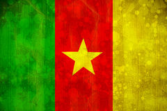Cameroon flag in grunge effect Stock Photography
