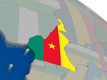 Cameroon with flag Royalty Free Stock Photos