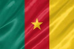 Cameroon flaga zdjęcie royalty free
