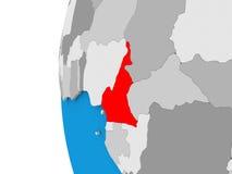 Cameroon on globe Stock Photo
