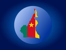 Cameroon globe illustration Royalty Free Stock Photo