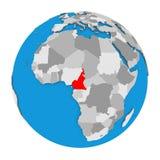 Cameroon on globe Royalty Free Stock Photography