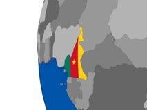 Cameroon on globe Stock Photography