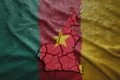 Cameroon Map Royalty Free Stock Image