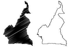 Cameroon map vector Royalty Free Stock Photos