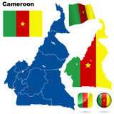 Cameroon set. Royalty Free Stock Image