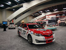 Camery Daytona 500 race car on display Stock Photo
