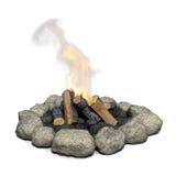 Camfire con fuoco. Fotografie Stock