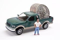 Camião de dinheiro Fotos de Stock Royalty Free