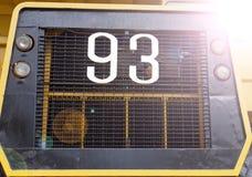 Camión amarillo grande Fotos de archivo libres de regalías