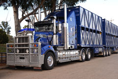Camión australiano del tren de camino Foto de archivo libre de regalías