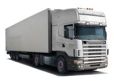 Camión blanco Scania Imagenes de archivo