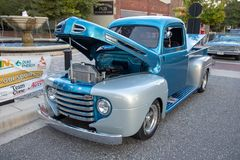 Camión clásico de Ford en la exhibición Fotos de archivo libres de regalías
