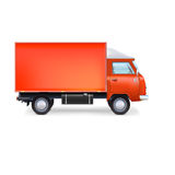 Camión comercial del cargo de la entrega Fotografía de archivo libre de regalías