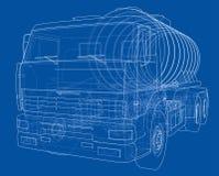Camión con concepto del tanque Vector Foto de archivo