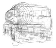 Camión con concepto del tanque Vector Imagenes de archivo